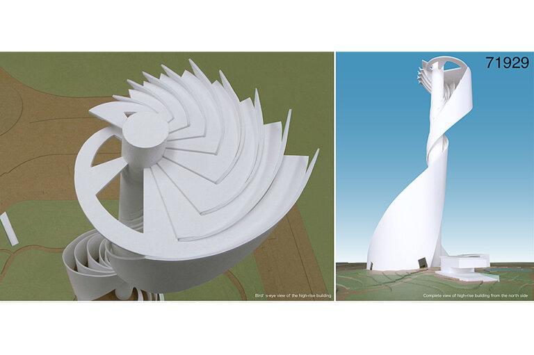 ドバイ ザビール・パーク高層建築 設計競技